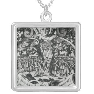 The Discovery of the Mississippi River Silver Plated Necklace