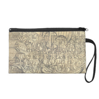 The Discovery of the New World by Chrisopher Colum Wristlet Purses