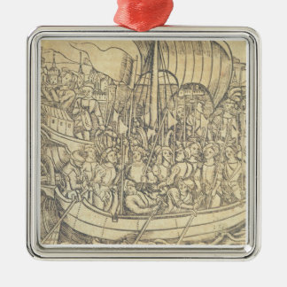The Discovery of the New World by Chrisopher Colum Christmas Ornament