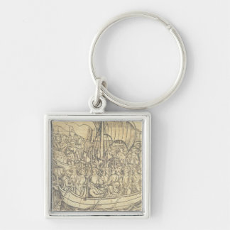 The Discovery of the New World by Chrisopher Colum Key Ring