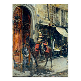 The Dispatch Bearer by Giovanni Boldini Postcard