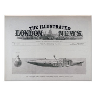 The Displacement Sinking and Rising Submarine Poster