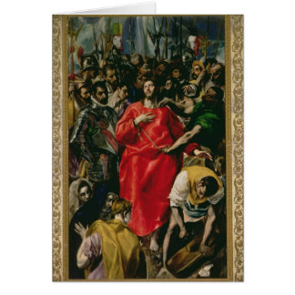 The Disrobing of Christ, 1577-79 Greeting Card
