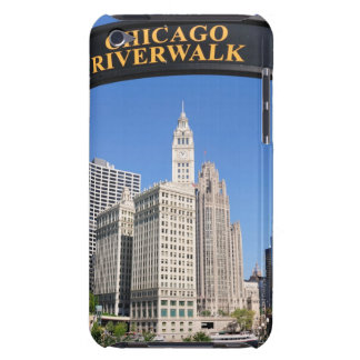 The distinctive design and clocktower of the iPod touch Case-Mate case