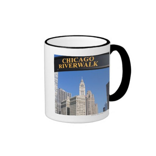 The distinctive design and clocktower of the mugs