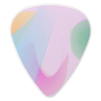 The Distinctive Morning Light White Delrin Guitar Pick