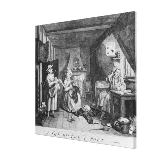 The Distressed Poet, 1740 Stretched Canvas Print