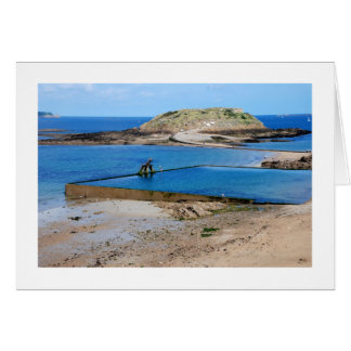 THE DIVER - St malo, Brittany Greeting Card