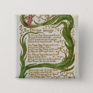 The Divine Image, from Songs of Innocence, 1789 15 Cm Square Badge