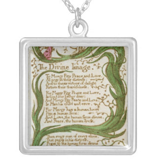The Divine Image, from Songs of Innocence, 1789 Silver Plated Necklace