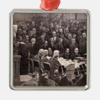 The Division in the House of Commons Silver-Colored Square Decoration