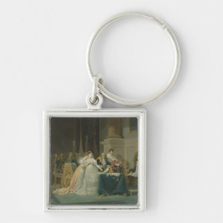 The Divorce of the Empress Josephine (1763-1814) 1 Silver-Colored Square Key Ring