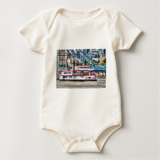 The Dixie Queen Paddle Steamer Baby Bodysuit