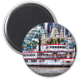 The Dixie Queen Paddle Steamer Fridge Magnet