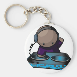 The Dj Basic Round Button Key Ring