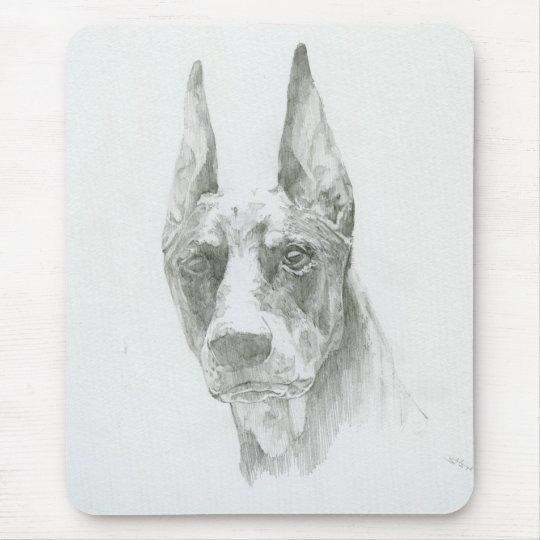 The Doberman sketch mouse pad
