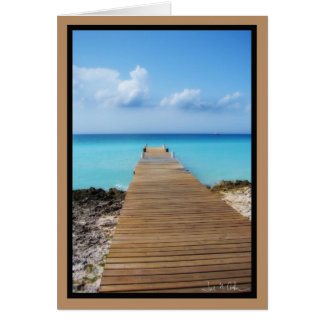 The Dock out to Crystal Waters Card
