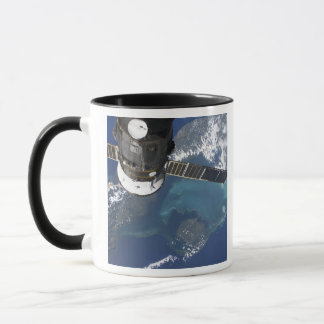 The docked Progress 22 spacecraft Mug