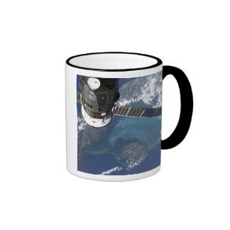 The docked Progress 22 spacecraft Ringer Mug