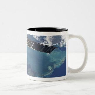 The docked Progress 22 spacecraft Two-Tone Coffee Mug