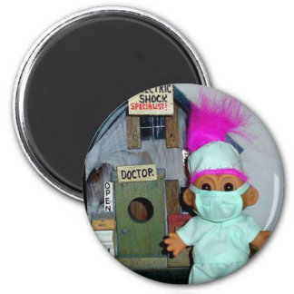 The Doctor is In 6 Cm Round Magnet