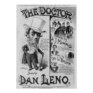 The Doctor Song Sheet Lyrics Patients Vintage Poster