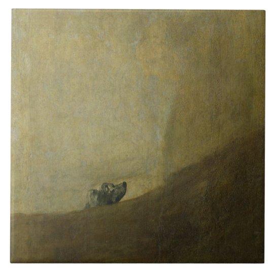 The Dog, 1820-23 Large Square Tile