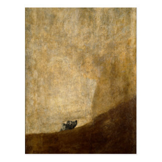 The Dog (Black Paintings) by Francisco Goya 1820 Postcard