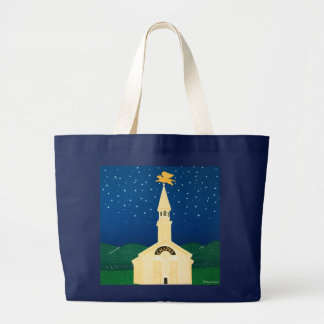 The Dog Chapel- XL Tote-Stephen Huneck Large Tote Bag