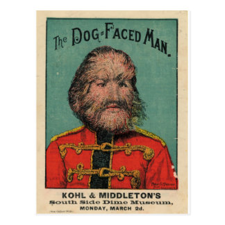 The Dog Faced Man Post Card