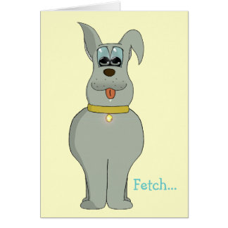 The dog greeting card