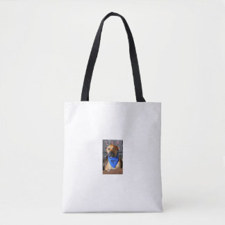 The dog is always the boss tote bag