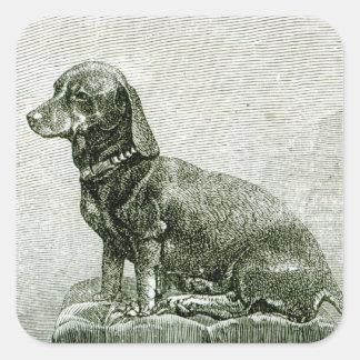 The Dog Jacob Square Sticker