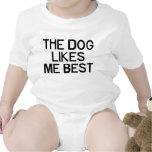 The Dog Likes Me Baby Bodysuit
