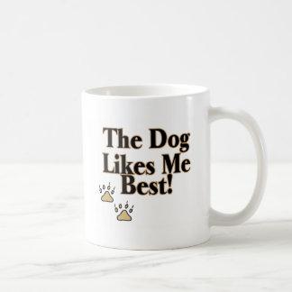 The Dog Likes Me Best Coffee Mugs