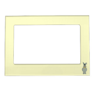 The dog magnetic picture frame