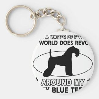 The dog revolves around my KERRY BLUE TERRIER Key Ring