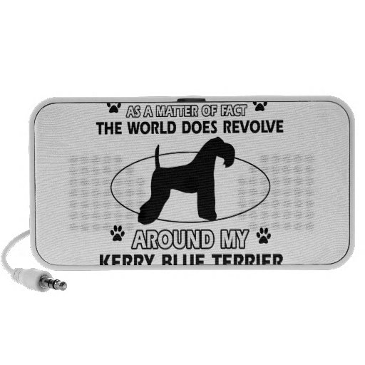 The dog revolves around my KERRY BLUE TERRIER Portable Speaker