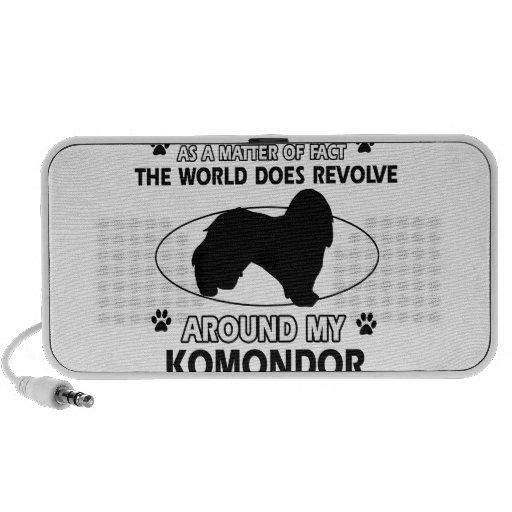 The dog revolves around my KOMONDOR Mini Speakers