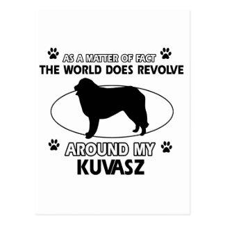 The dog revolves around my kuvasz postcard
