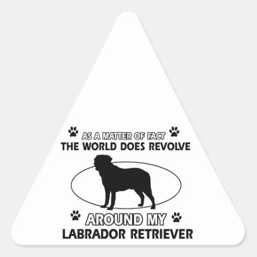 The dog revolves around my labrador retriever sticker
