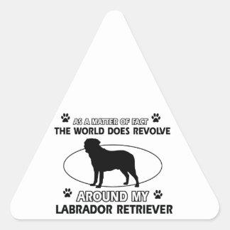 The dog revolves around my labrador retriever triangle sticker