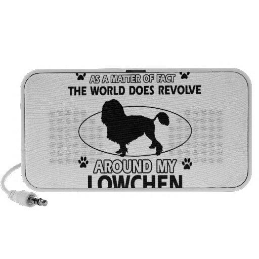 The dog revolves around my Lowchen Notebook Speakers