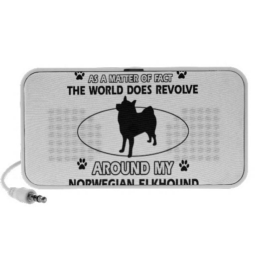 The dog revolves around my norwegian elk hound iPod speaker