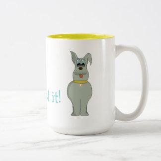 The dog Two-Tone coffee mug