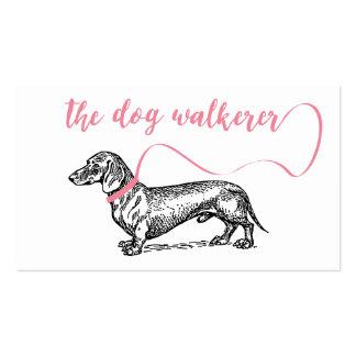 THE DOG WALKERER BUSINESS | DOG LOVER PINK PACK OF STANDARD BUSINESS CARDS
