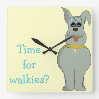 The dog wall clock