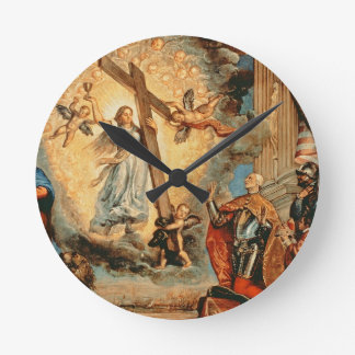 The Doge Grimani kneeling before Faith Wall Clocks