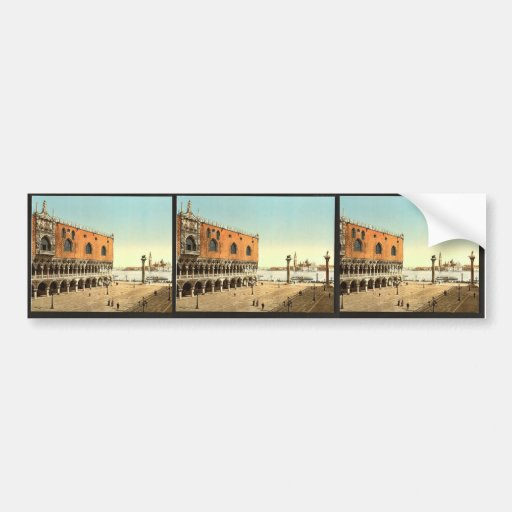 The Doges' Palace and the Piazzetta, Venice, Italy Bumper Stickers