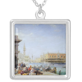 The Doge's Palace from Santa Maria della Silver Plated Necklace